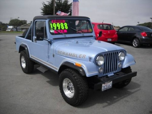 1984 jeep scrambler cj8 v6 manual for sale marina ca craigslist. Black Bedroom Furniture Sets. Home Design Ideas