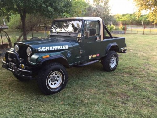 1982 jeep scrambler cj8 v6 manual for sale houston tx craigslist. Black Bedroom Furniture Sets. Home Design Ideas